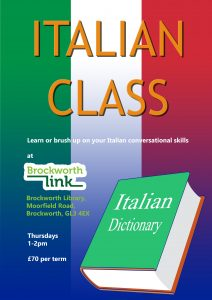 Italian class poster